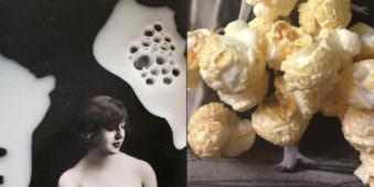 Eine Collage zweier weiblicher Akte.