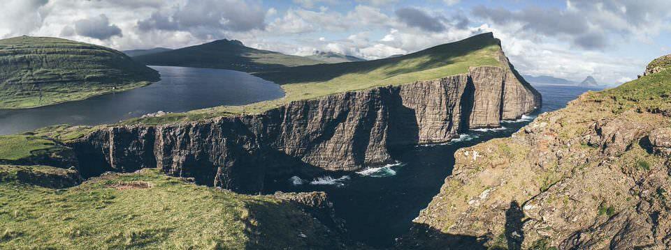 Panorama einer Klippe