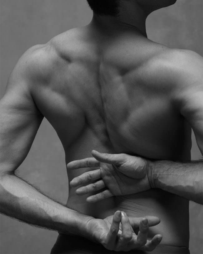 Ein Rücken eines Tänzers