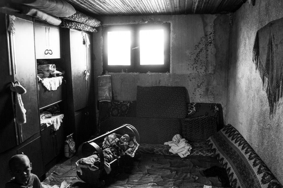 Kleines Zimmer mit Baby