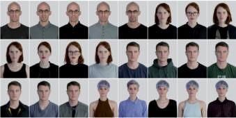 Viele Portraits nebeneinander und untereinander.