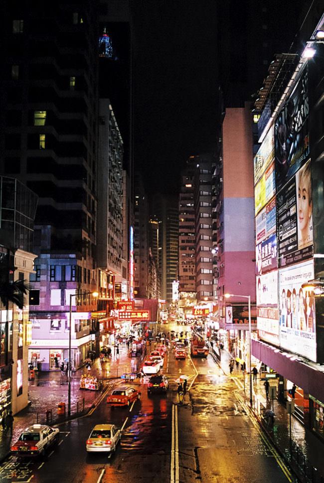 Nachtaufnahme einer Großstadt