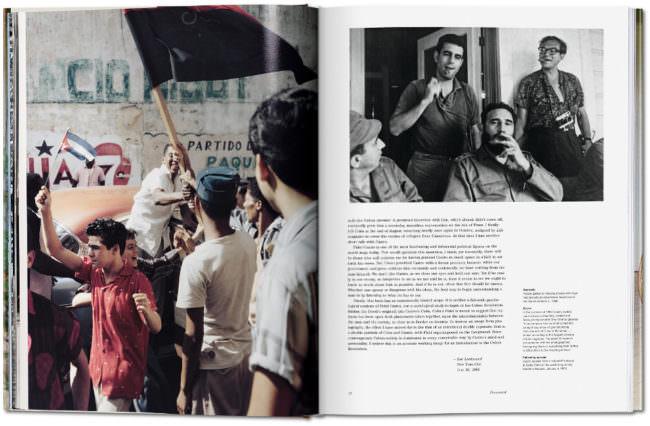 Aufnahme aufgeschlagener Buchseiten mit Text und Bild