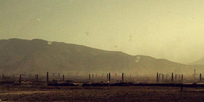Landschaft mit Staub