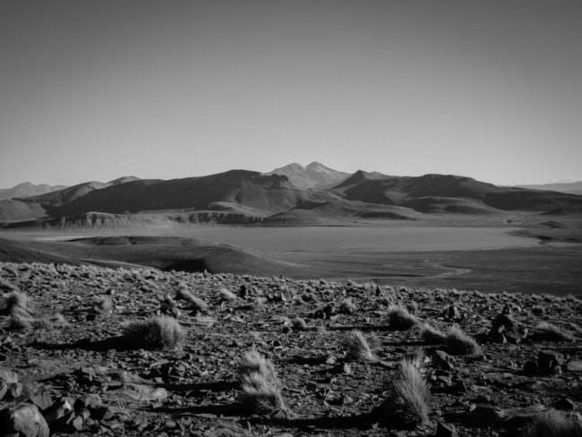 Wüste mit Bergen