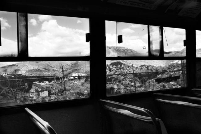 Blick aus einer Bahn heraus