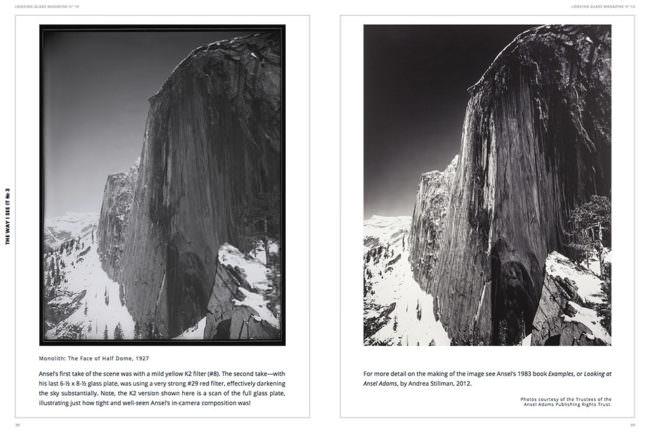 Ansicht einer Magazindoppelseite mit zwei Bergabbildungen und kleinen beschreibenden Texten.