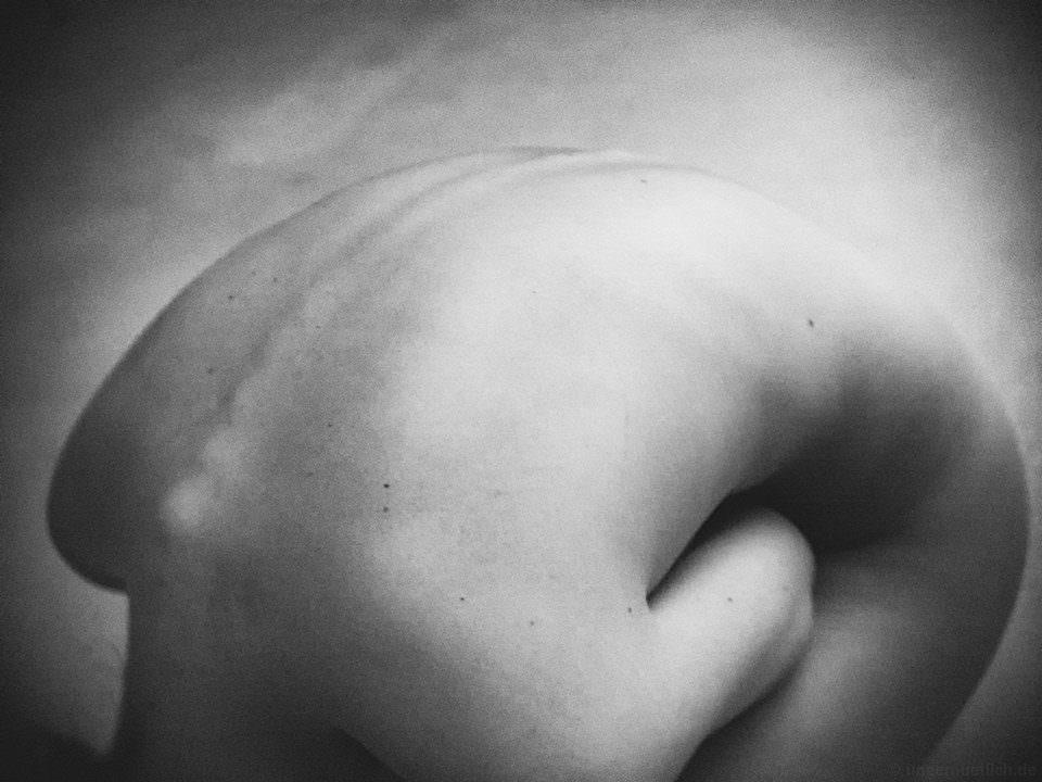 Ein geeugter Rücken