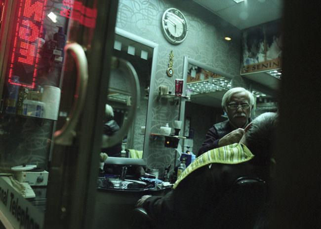 Blick in ein Friseurgeschäft