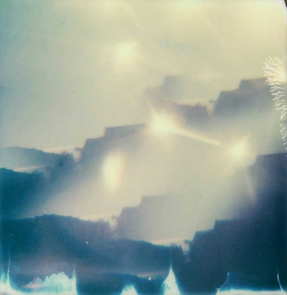 blau-gelbes Polaroid
