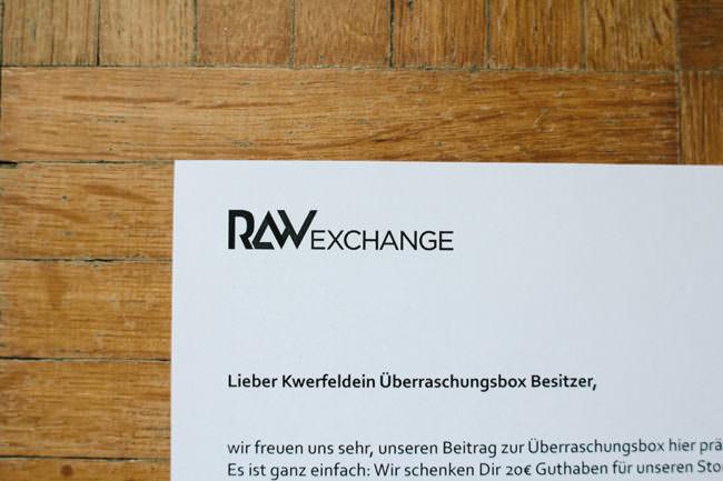 Gutschein Rawexchange