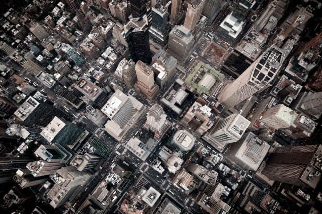 Eine Großstadt von oben