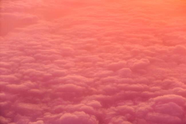 Pinke Wolken