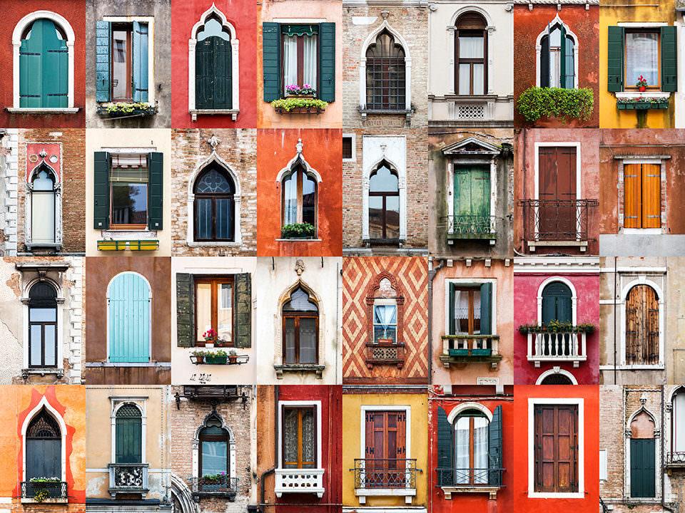 Viele Fenster auf einem Bild