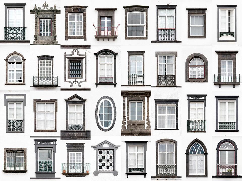 Fenster mit weißer Hauswand