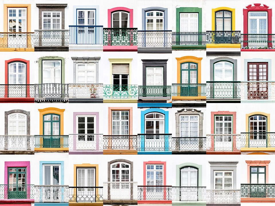 Viele bunte Fenster
