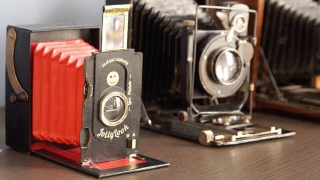 Verschiedene Sofortbildkameras