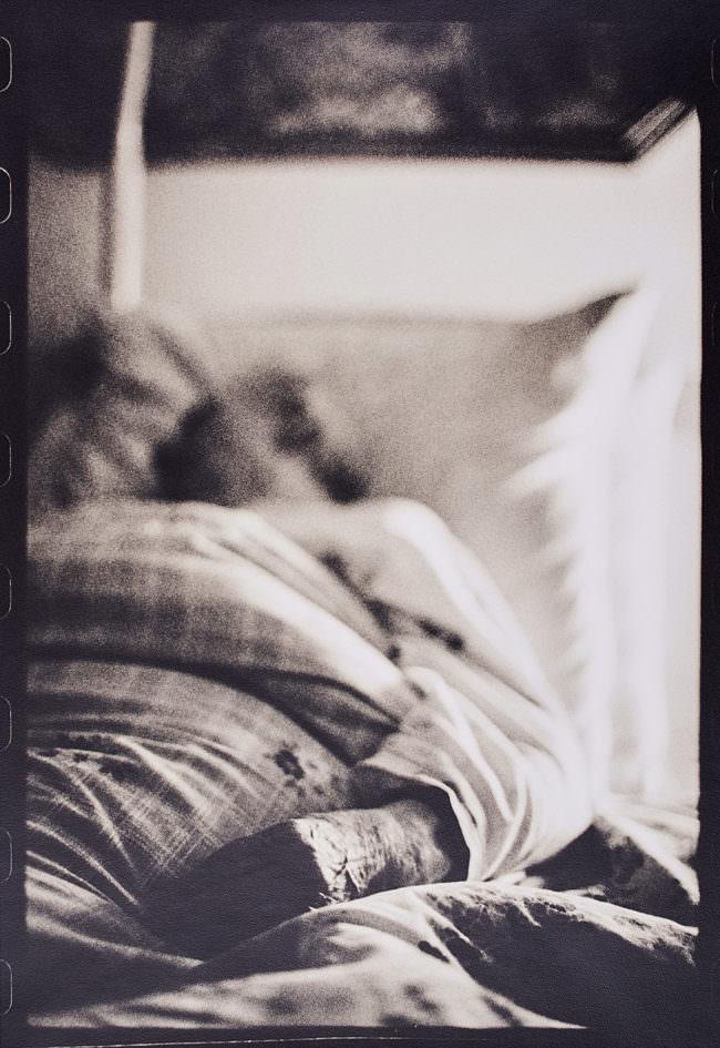 Eine Person im Bett