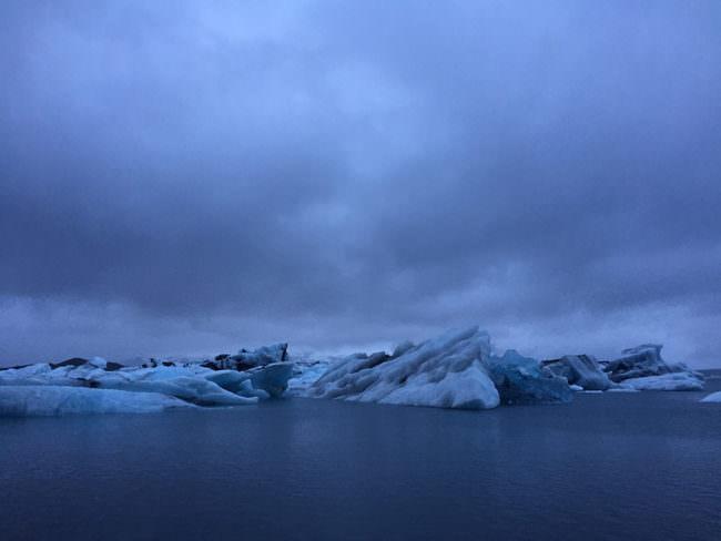 Eine Gletscherlagune