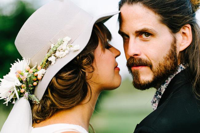 Ein Brautpaar im Portrait