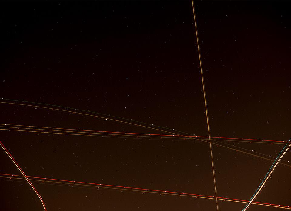 Linien am Nachthimmel