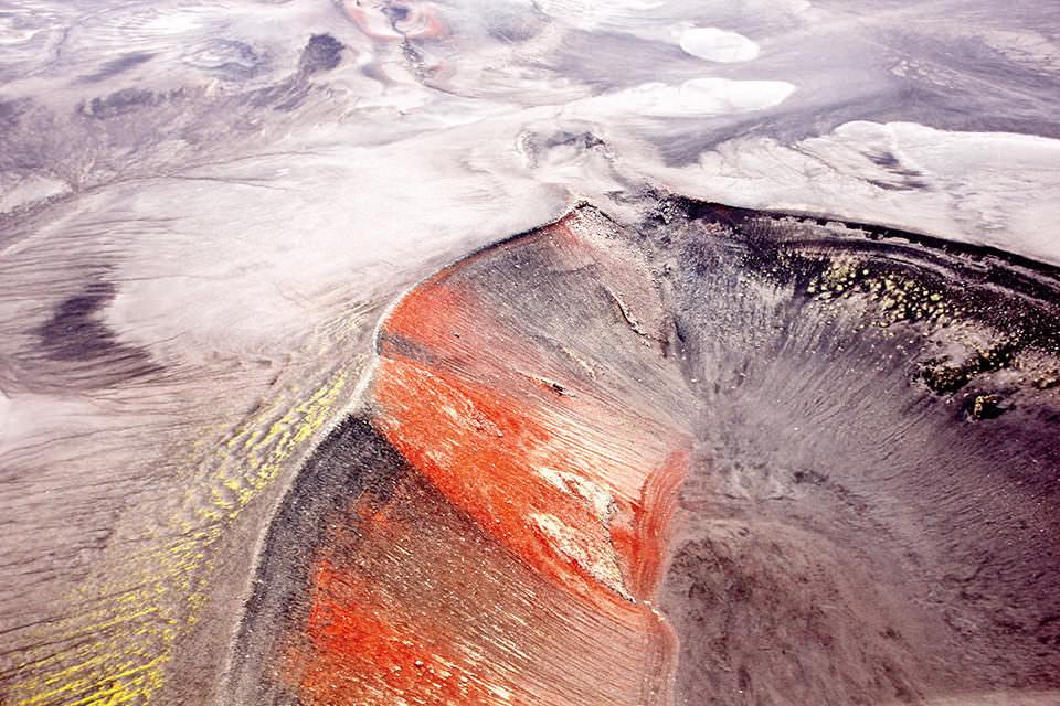 Ein Grater von oben
