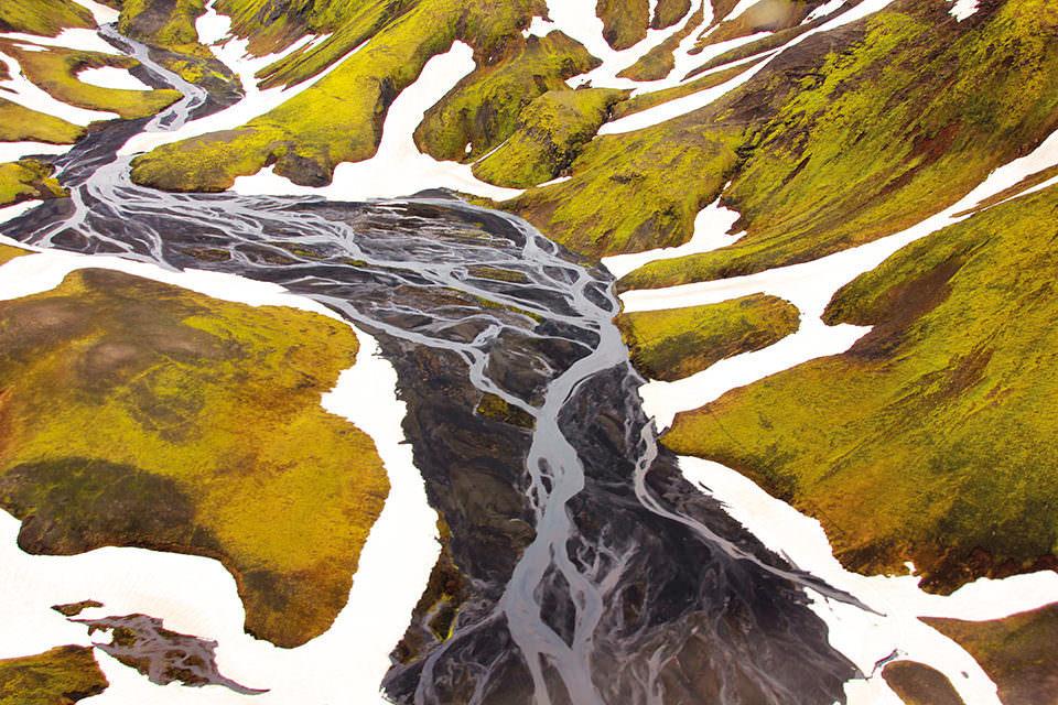 Flusslauf von oben