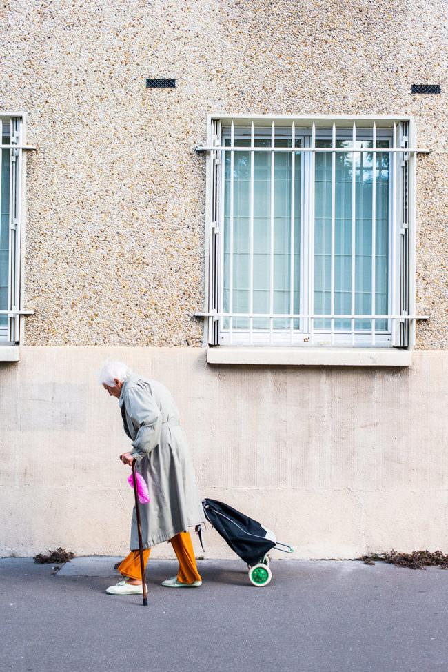 Eine Frau auf der Straße