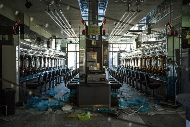 Ein zerstörter Laden
