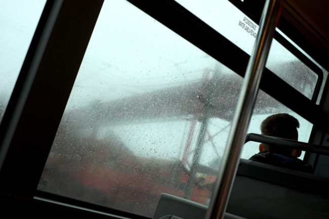 Ansicht aus einem Bahnfenster