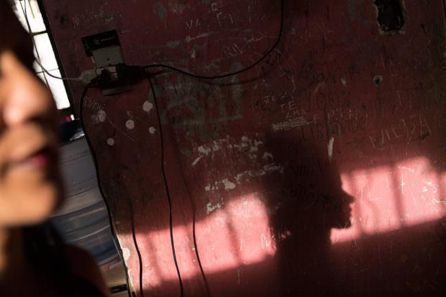 Schatten an einer Wand