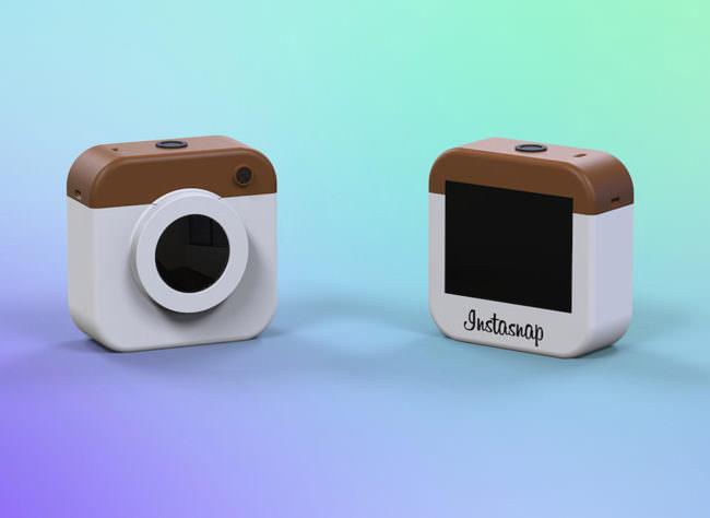 Eine Actionkamera in Form eines Instagram-Logos