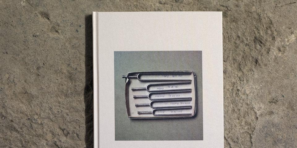 Ansicht eines Buchcovers mit abgebildeten Stimmgabeln in einer Box.