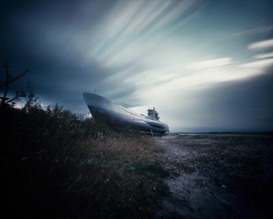 Ein gestrandetes Boot