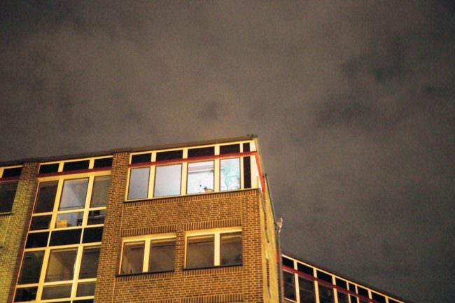 Ein Haus bei Nacht
