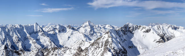 Schneebedecktes Bergpanorama