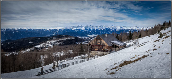 Eine Berghütte