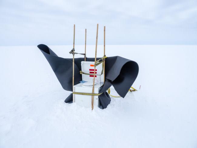 Toilette im Schnee