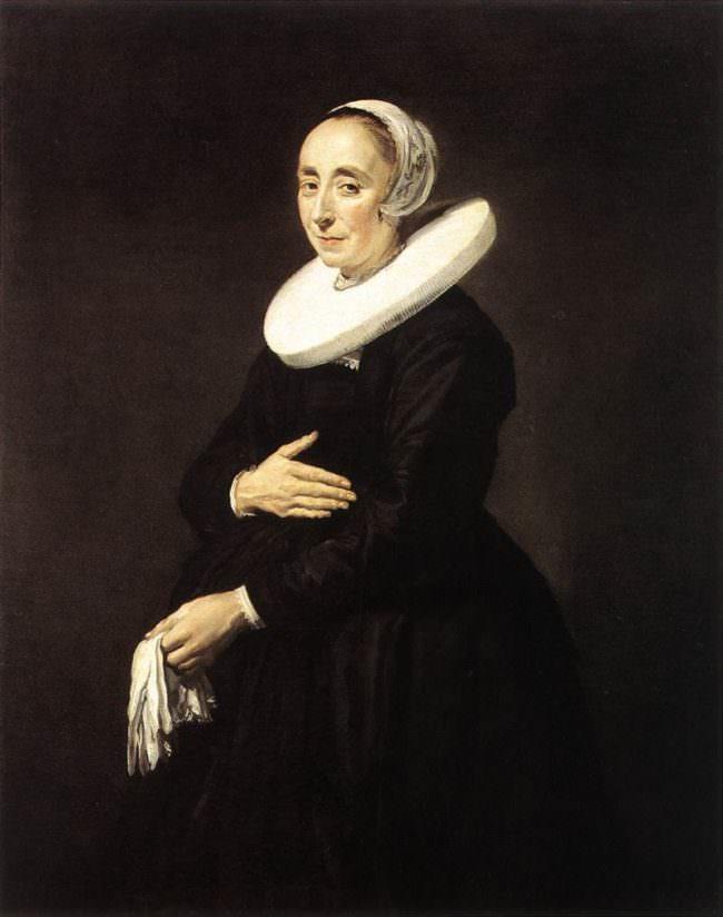 Altes Gemälde mit Portrait einer Frau