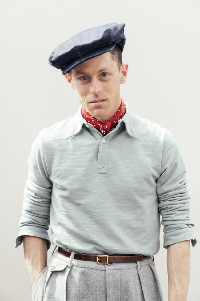 Männerportrait mit Baskenmütze