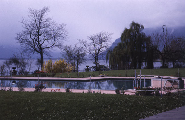 Pool im Nebel