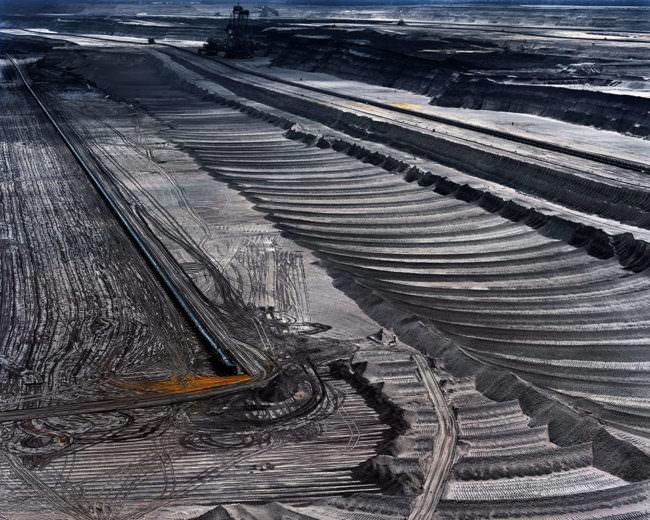 Strukturierter Boden auf einer großen Fläche.