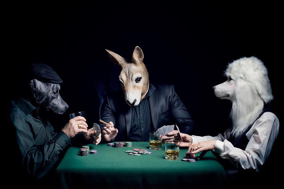 Tiere beim Schachspiel