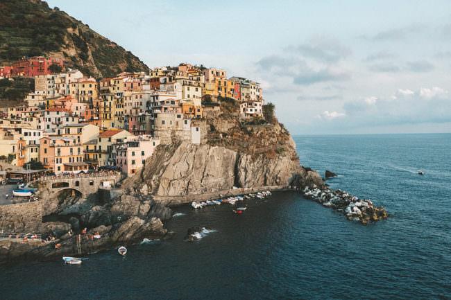 Stadt an der Küste
