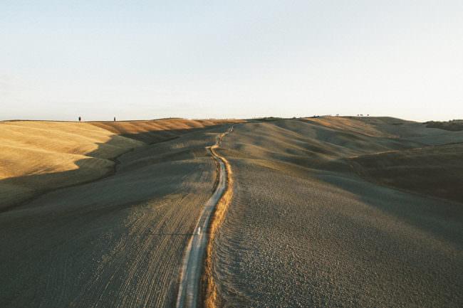 Weg in einer Landschaft