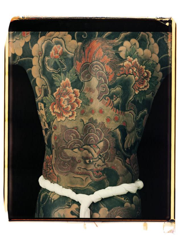 Ein tatowierter Rücken