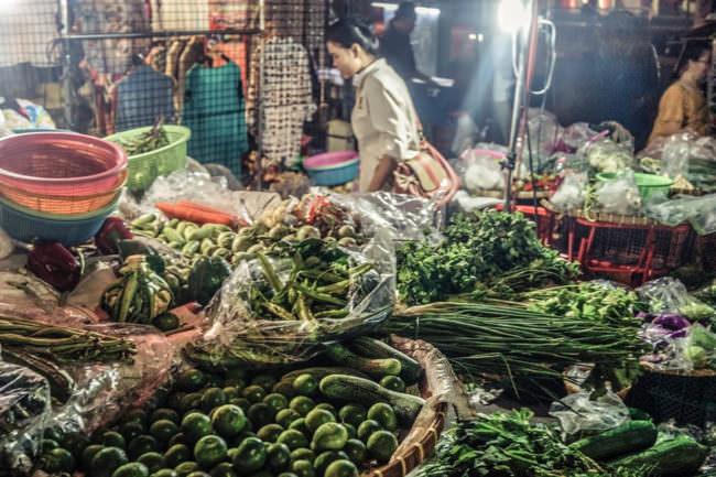 Ein Gemüsemarkt