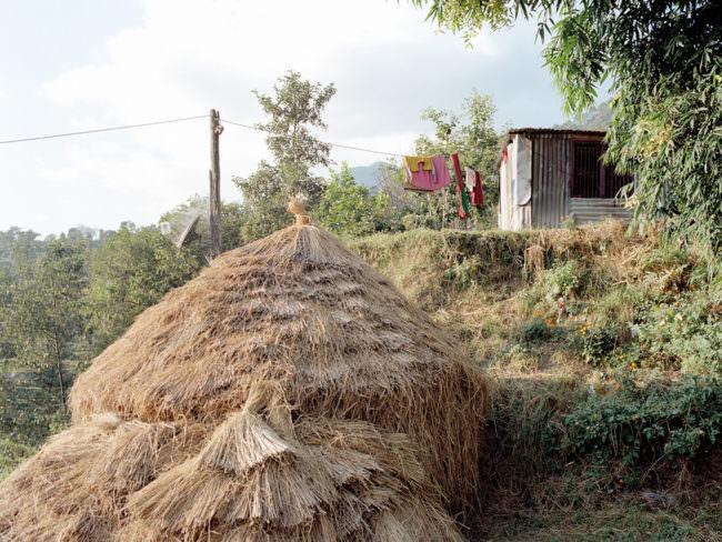 Eine Hütte