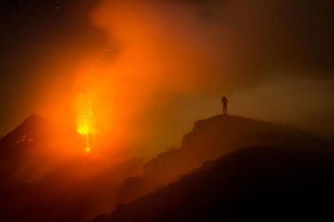 Ein Vulkanausbruch