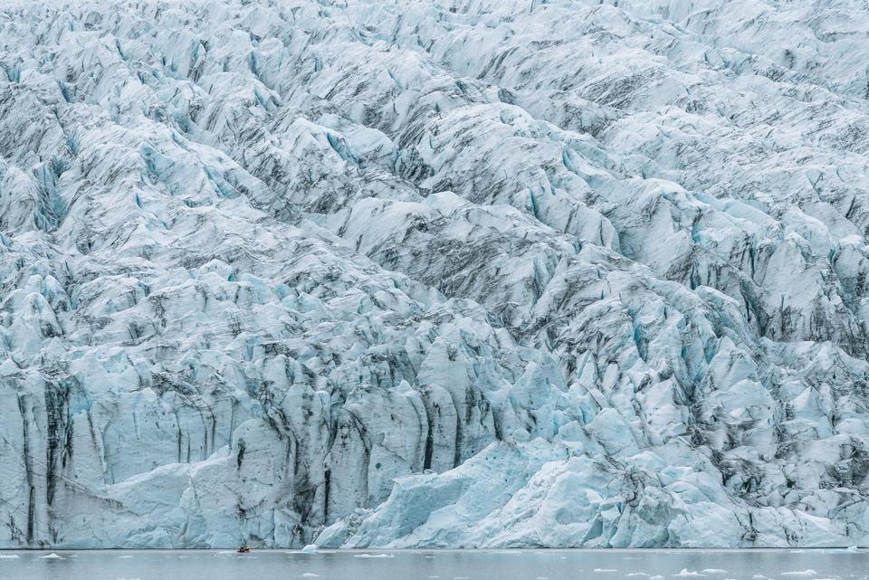 Abstrakte Fotografie eines Eisberges.